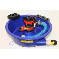 Blue Bowl With Pump and Leg Levelers