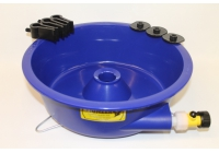 Blue Bowl With Leg Levelers